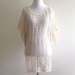 Pls Read Bebe Cover Up Top White Gold Petite Small